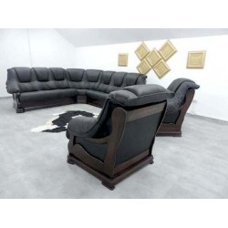 купити шкіряний кутовий диван за вигідними цінами, шкіряний класичний куток від виробника.